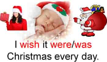 The baby is sleeping and dreaming of Christmas.